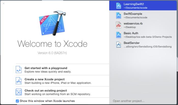 Nuevo proyecto en Xcode 6 beta